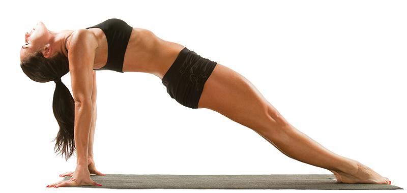 Imagen de mujer prácticando asana de yoga